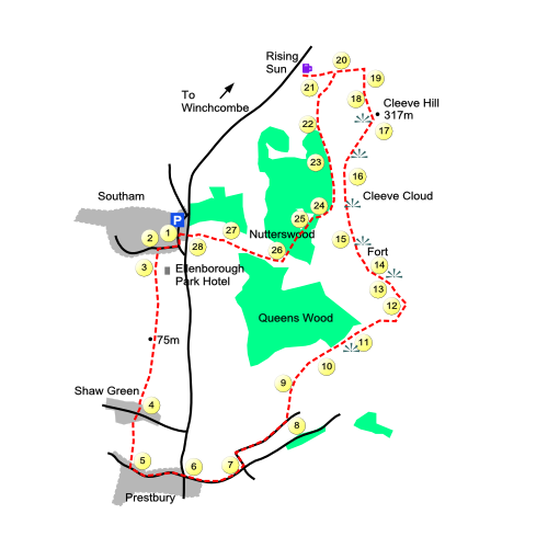 Cleeve Hill Map